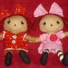 Long legs Pokka dot Twins Raggedy dollies