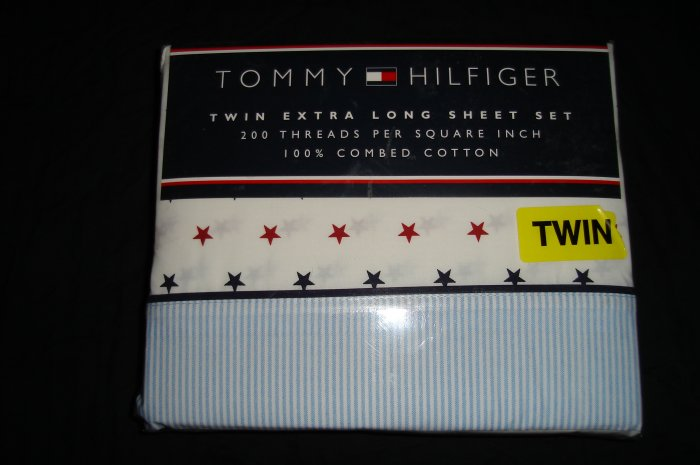 Tommy Hilfiger Union Twin XL Extra Long Sheet Set Dorm Bedding