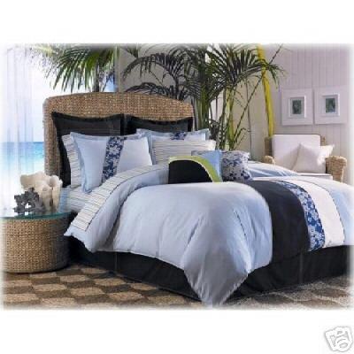 Nautica Board Short Twin Comforter SET & XL Sheet Set 5 pc Dorm Bedding
