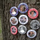 7-PACK of BUTTONS for PRESIDENTIAL HOPEFUL HILLARY CLINTON for PRESIDENT 2008