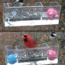 FLOATING WINDOW BIRD FEEDER OR BIRD BATH THAT FREEZES SLOWER