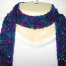 Crazy Purples corcheted scarf