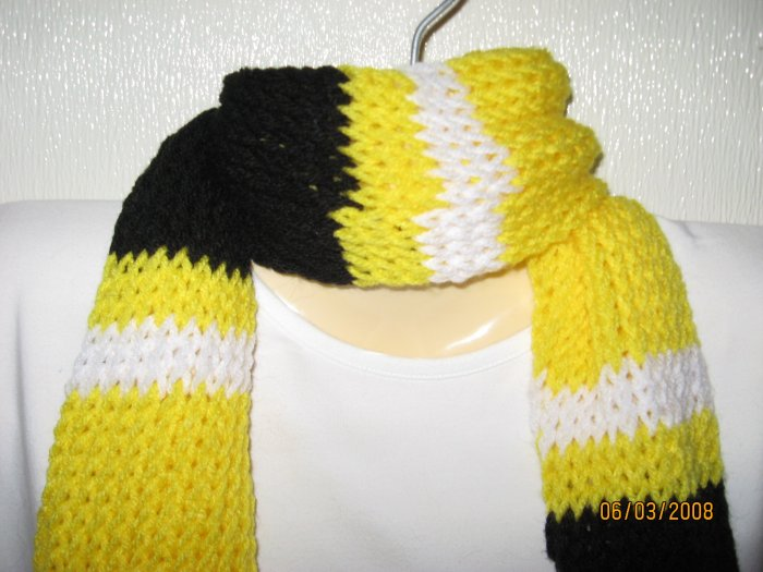 Pittsburgh Pride striped knit scarf