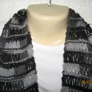 Black Camo Lace knitted scarf