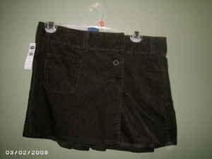 NEW Old Navy Short Corduroy Skirt Size 2