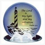Glass Psalm Candleholder