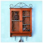 Curio Cabinet With Key Holders