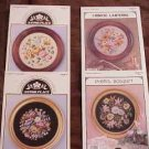 A 4 pak of CIRCULAR FLOWERS Cross Stitch Patterns ~c