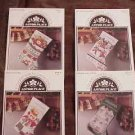 A 4 Pak ~CHRISTMAS STOCKINGS Cross Stitch Patterns ~b