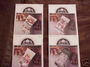 A 4 Pak ~CHRISTMAS STOCKINGS Cross Stitch Patterns ~b