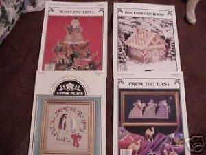 A 4-Pak Selection of Assorted Cross Stitch Patterns ~g