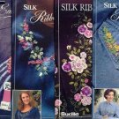4 New Silk Embroidery Iron on Patterns by Bucilla ~b