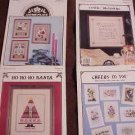 A 4-Pak Assortment of Cross Stitch Patterns ~k