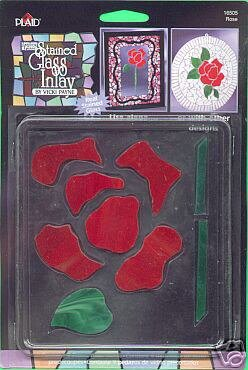 Gallery Glass ROSE Insert for Stain Glass or Mosiacs