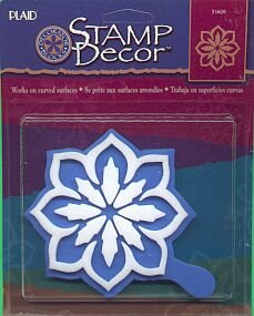 Plaids Great UNKNOWN FLOWER Stencil Stamp new in package