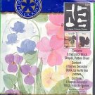 Plaids PINK & BLUE FLOWERS Stamping Stencil new in package