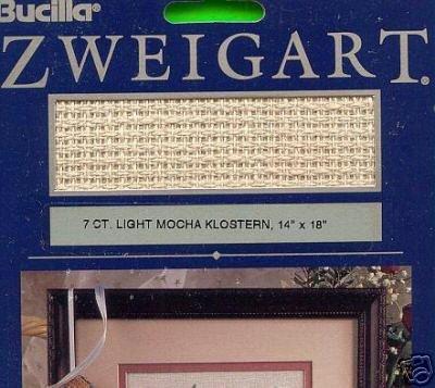 "Bucilla 7 ct. Light MOCHA KLOSTERN 14"" X 18"" Fabric"