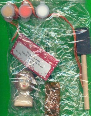Bucilla Doll Head and Assorted Supplies