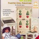 DOLLY & ME Patterns To Paint DOLL Furniture Booklet by Plaid