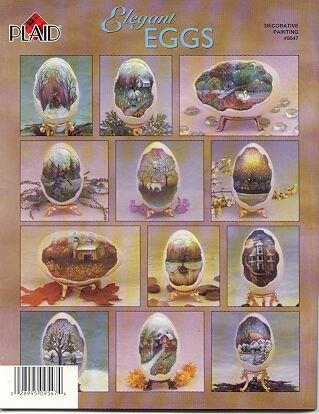 Folk Art 12 Elegant Eggs~Booklet~ by Plaid