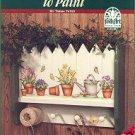 Folk Art CREATIVE SHELVES to PAINT Book