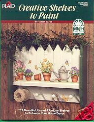 Folk Art CREATIVE SHELVES to PAINT Book