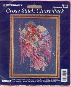 Cornucopia Angel~Cross Stitch Chart Pack