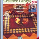 Beautiful Country Floorcloths~COUNTRY ROOSTER~ Creative Canvis Booklet$5.00