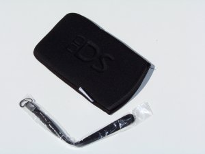 Soft Pouch for NDS Lite with Matching Strap - Black