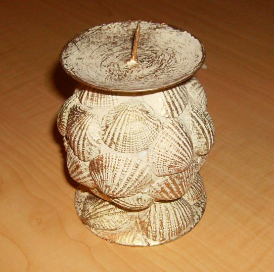 Hand Painted Seashell Candle Holder