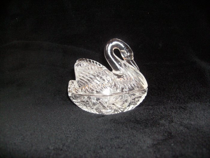 Crystal Swan Trinket Box - Brand New
