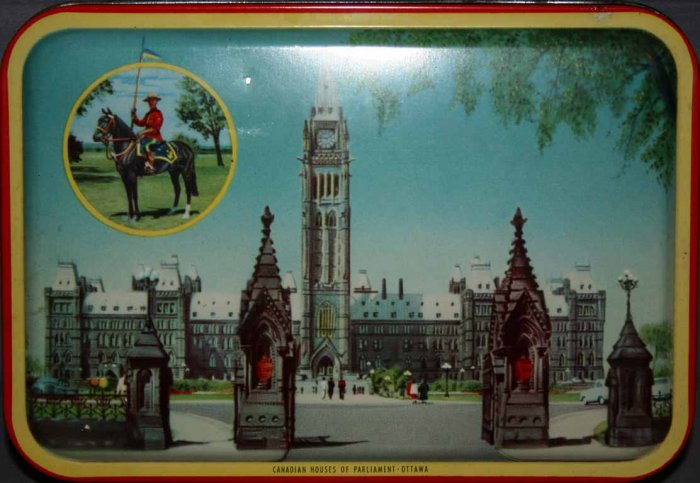 BLUE BIRD TOFFEE ~ HOUSES OF PARLIAMENT TIN