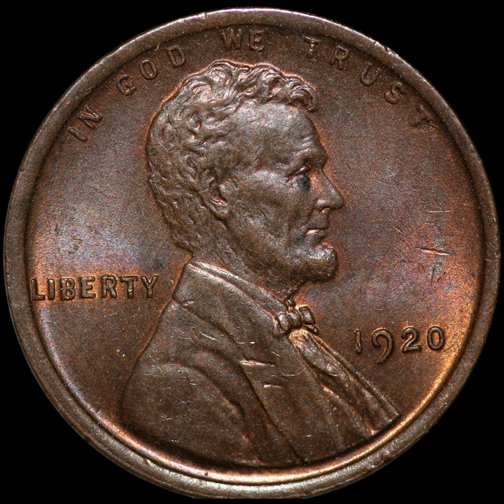 1920 US LINCOLN WHEAT CENT ~ MS62/63 RED - BROWN