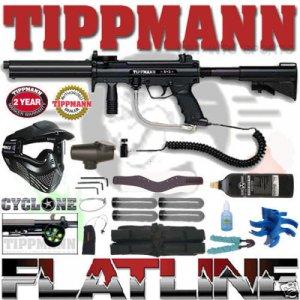 Tippmann A-5 Sniper Flatline Paintball Gun Package A5
