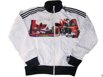 Adidas Jacket - White (Black NY)