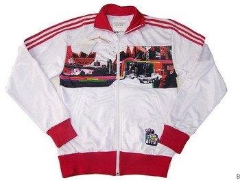 Adidas Jacket - White (Red NY)