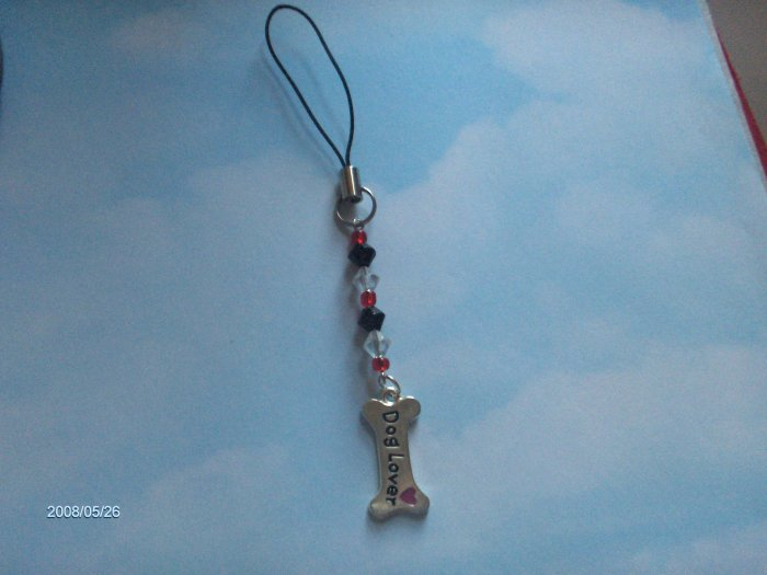 red and black dog charm