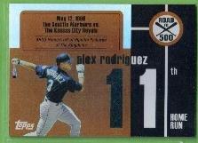2007 Topps Baseball Road to 500 Alex Rodriguez (Mariners) #ARHR11