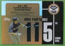 2007 Topps Baseball Road to 500 Alex Rodriguez (Mariners) #ARHR115