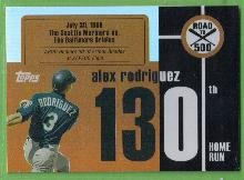 2007 Topps Baseball Road to 500 Alex Rodriguez (Mariners) #ARHR130