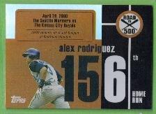 2007 Topps Baseball Road to 500 Alex Rodriguez (Mariners) #ARHR156