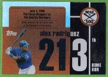 2007 Topps Baseball Road to 500 Alex Rodriguez (Rangers) #ARHR213