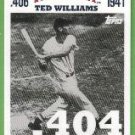2007 Topps Baseball Ted Williams 406 Ted Williams (Red Sox) #TW10