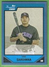 2007 Bowman Prospects Baseball Blue Border Duke Sardinha (Rockies) #BP88 (#'d 305/500)