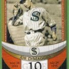 2007 Topps Baseball The Streak Before the Streak Joe DiMaggio (Seals) JDSF19