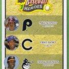 2008 Upper Deck Heroes Mike Schmidt / Ernie Banks / Frank Robinson #195