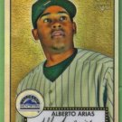 2007 Topps 52 Rookie Edition Chrome Refractor Rookie Alberto Arias (Rockies) #TCRC87 (#'d 148/552)