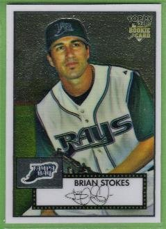 2007 Topps 52 Rookie Edition Chrome Rookie Brian Stokes (Devil Rays) #TCRC86 (#'d 1391/1952)