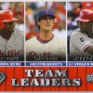 2009 Upper Deck Team Leaders Ryan Howard / Cole Hamels / Jimmy Rollins (Phillies) #432