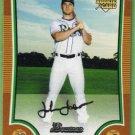 2009 Bowman Baseball Orange Rookie John Jaso (Rays) #203 (#'d 116/250)